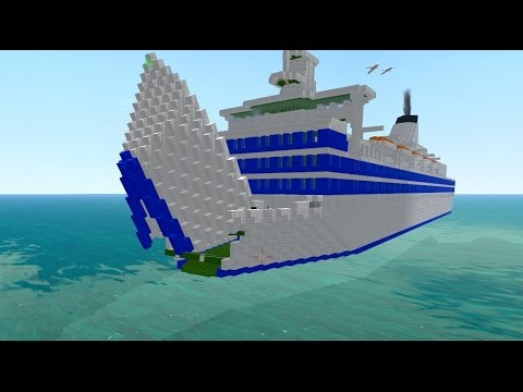 From the Depths! Sinking the MS Estonia, (Minecraft design)