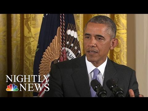 President Obama Celebrates Final Presidential Medal Of Freedom Ceremony | NBC Nightly News