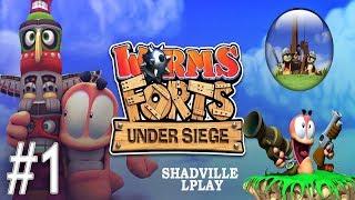 Worms Forts: Under Siege Прохождение #1: Египет
