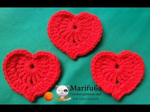 How to crochet tiny heart applique free pattern for beginners