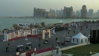 Beach view of Katara Cultural Village in Doha, Qatar