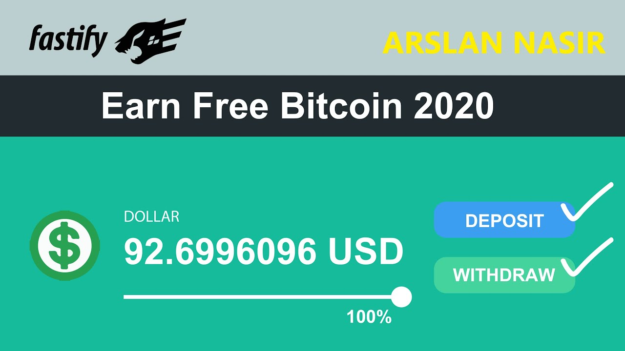 Fastify New Free Bitcoin Earning Site 2020 - Earn Daily $100 Live ...