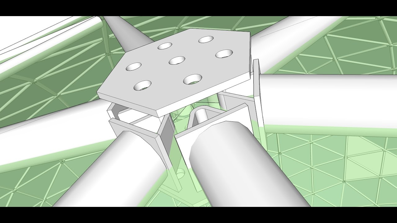 Dome building methods - Hub and Strut - YouTube