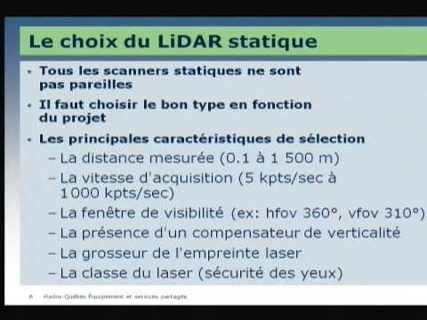 LIDAR statique et analyse 3D, exemples d'application à Hydro-Québec Équipement
