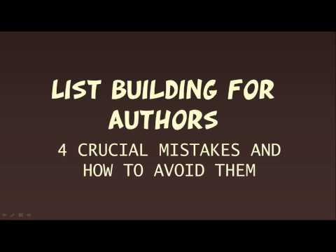 list building authors definition