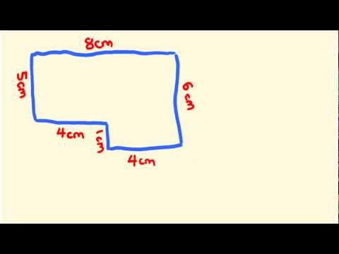 Area of composite or compound shapes - fast math lesson