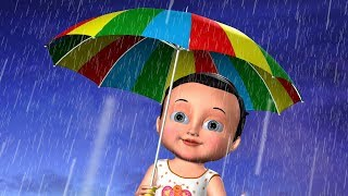 Rain Rain Go Away ( Come Again ) 3D Kids Songs and Nursery Rhymes for Children