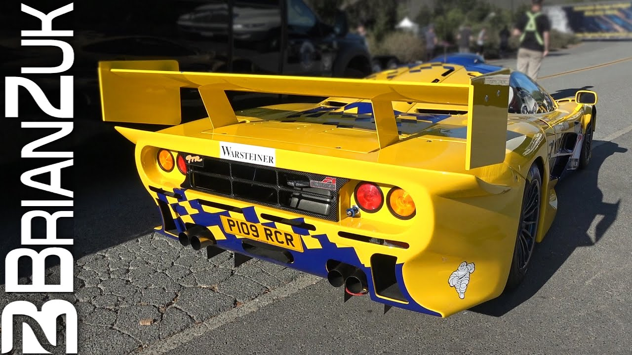 McLaren F1 GTR Longtail Revving & On Road