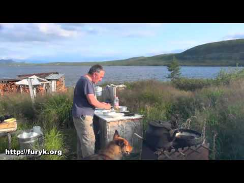 Первая рыбалка на озере Джека Лондона. Жареный хариуз. Колыма. Магаданская область