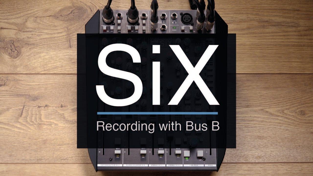 SSL SiX Small Format Desktop Mixer