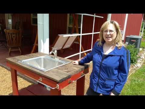 Outdoor Garden Sink Project