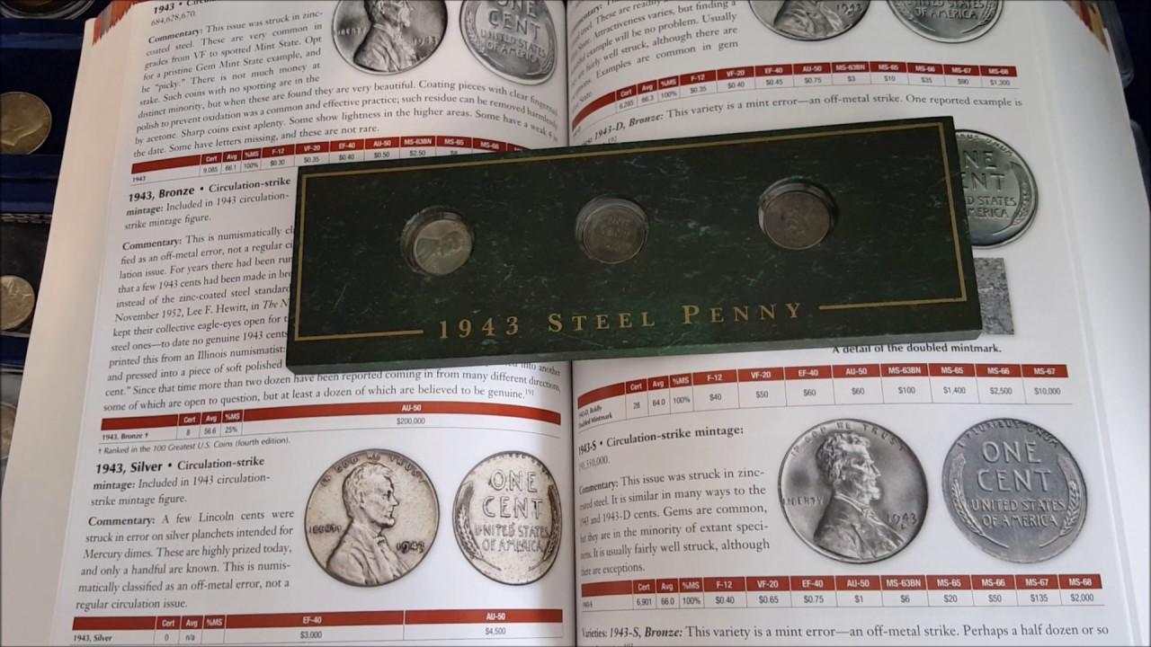 U S  Cent ,1943 Lincoln Steel Cent P D S set