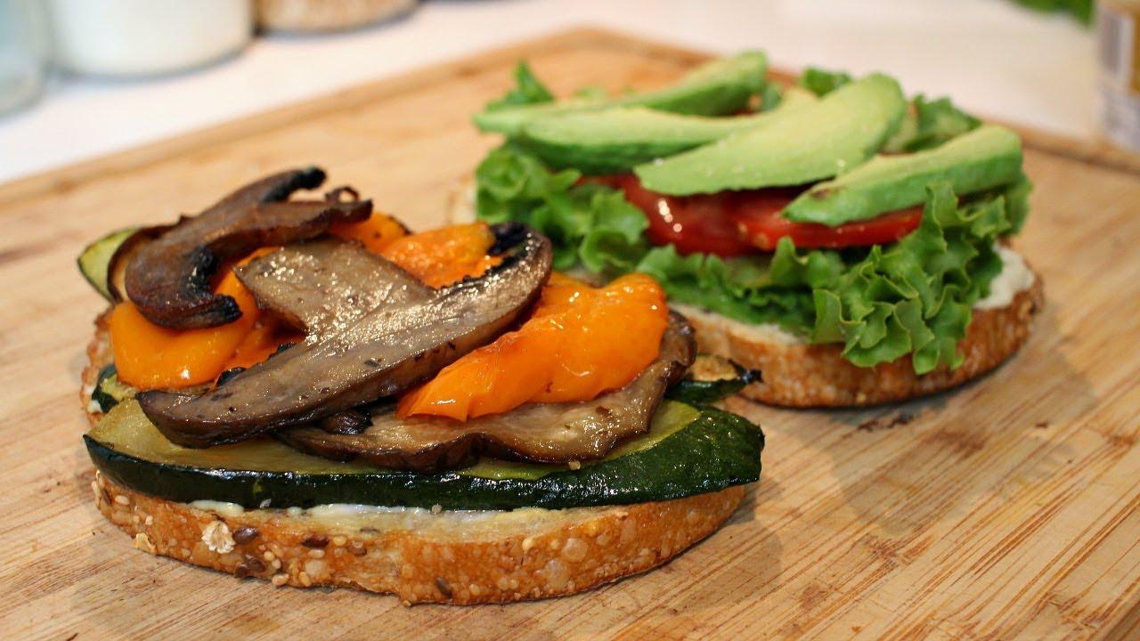 Roasted Vegetable Sandwich   Vegan Recipe