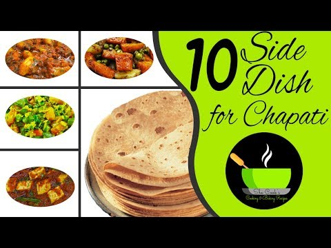 10 Side Dish For Chapati | Gravy Recipes For Roti | Easy Vegetarian Side Dish For Roti
