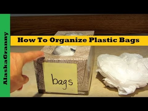 How To Organize Plastic Bags- Kitchen Organizing Tips Tricks Hacks