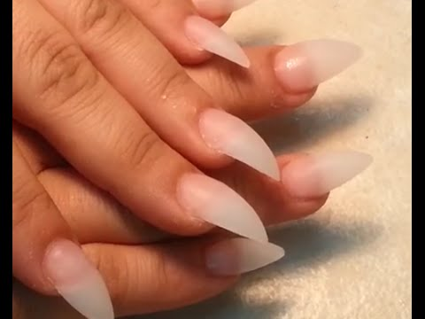 How To Stiletto Acrylic Finger Nails Shape