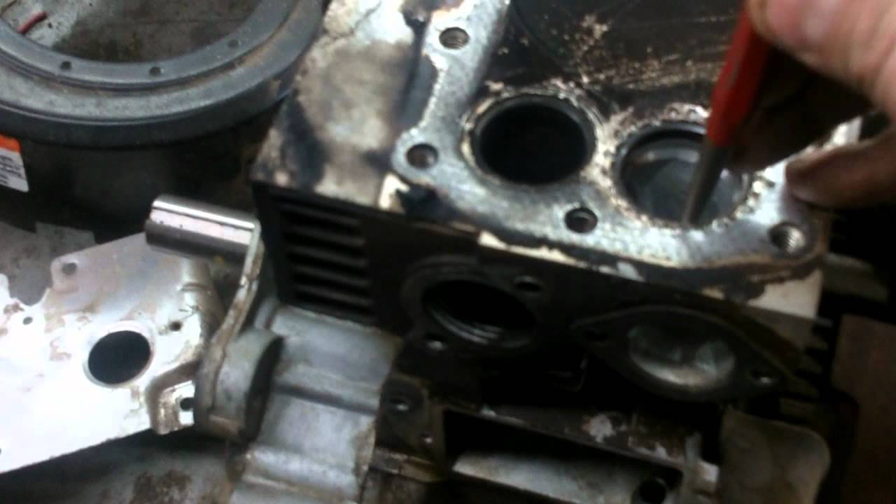 Lawn Mower Cylinder Block : Lawn mower repair how to valve seats that have