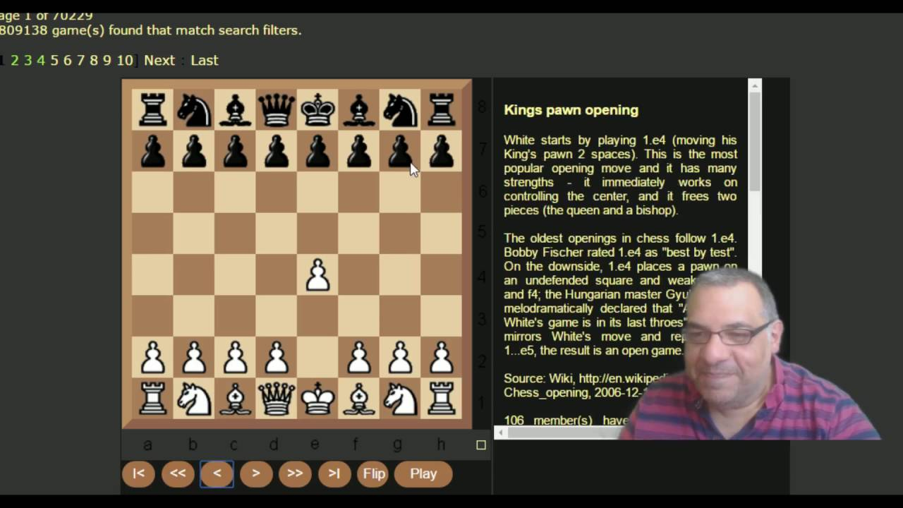 Kingscrusher's quick guide to some first move Chess Opening names