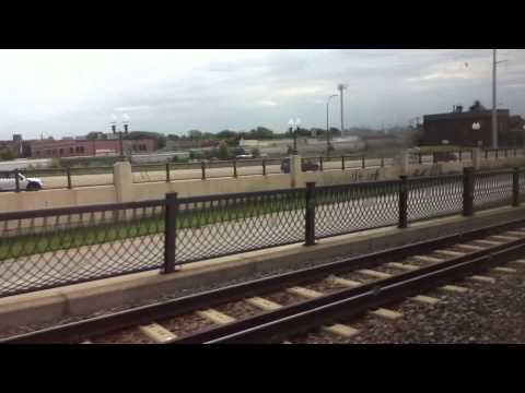 METRO Blue Line Light Rail Target Field Station to 28th Ave Station 8/17/15 HD