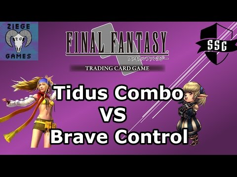 FFTCG at Ziege Games - Tidus Combo VS Brave Control