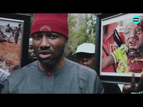 Biafrans Protest Killing Of Igbos As Buhari Addresses The UN General Assembly