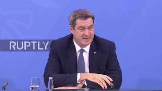Subscribe to our channel! rupt.ly/subscribebavarian minister-president markus soder announced that a nightly curfew would apply for the whole of state as...