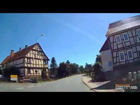 D: Schreufa. Stadt Frankenberg (Eder). Landkreis Waldeck-Frankenberg. Ortsdurchfahrt. August 2016
