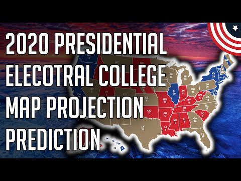 My Early 2020 Presidential Electoral College Map Projection Election Predictions - January 2020