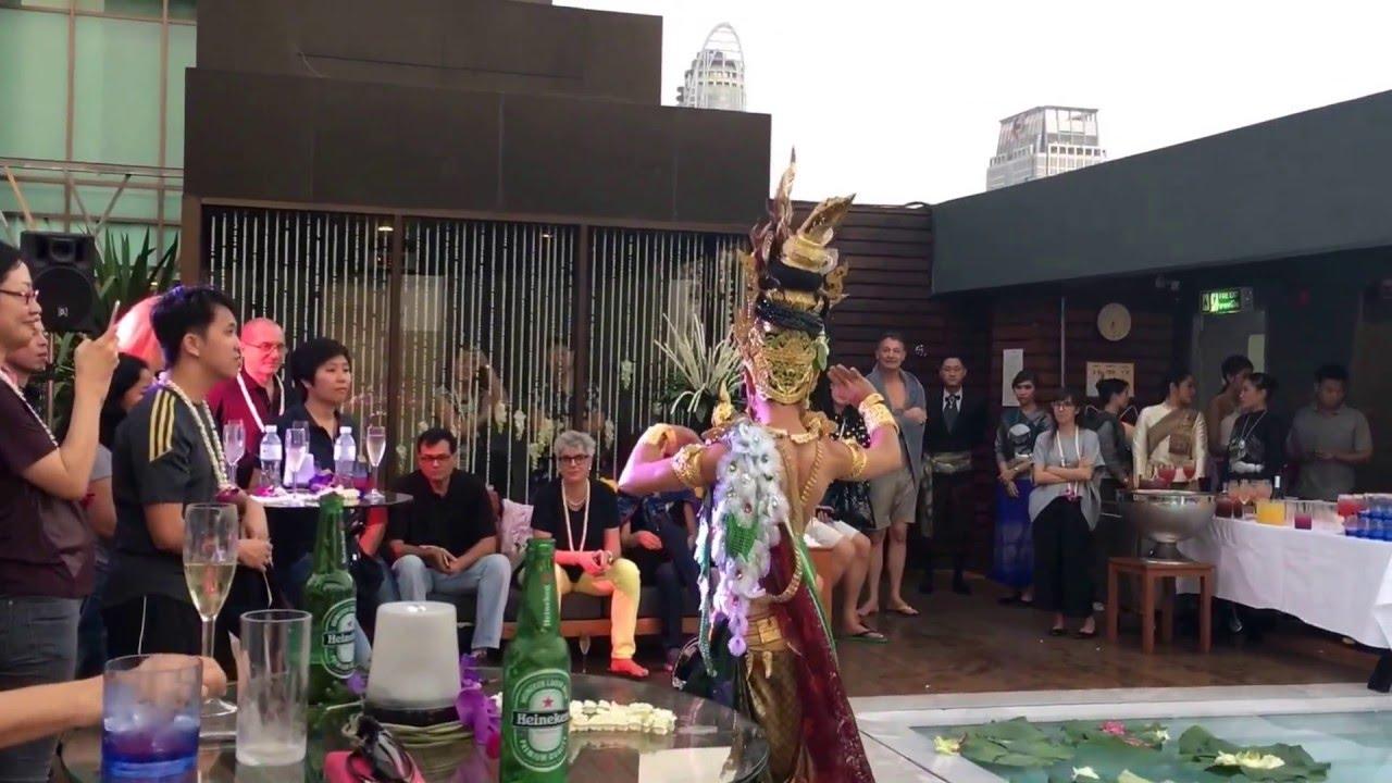 Naga dance show at vie pool vie hotel bangkok youtube for Pool dance show