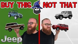 The CAR WIZARD shares the top JEEPS TO Buy & NOT to Buy