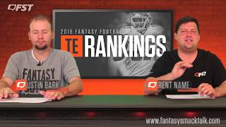 2018 Fantasy Football Tight End TE Tiers and Rankings