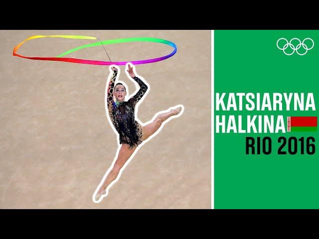 Colorful Ribbon Performance from Katsiaryna Halkina at Rio 2016!