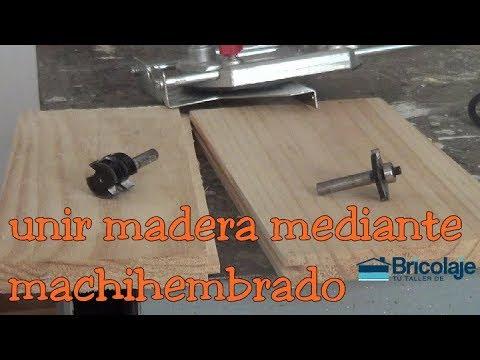 Cómo unir madera mediante machihembrado