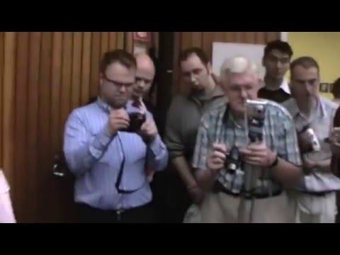 Free energy motor presentation in University