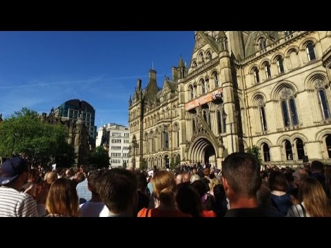 Manchester defiant at vigil for attack victims