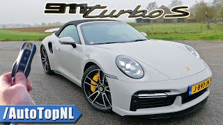 Porsche 911 Turbo S 992 Convertible REVIEW on AUTOBAHN by AutoTopNL