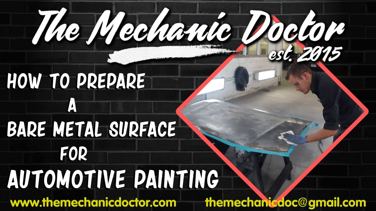 How to prepare a bare metal surface for automotive for How to prepare metal for painting