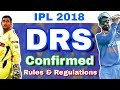 IPL 2018 : DRS Confirmed Finally In IPL 11 | Rules & Regulations
