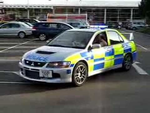 Evo 9 Police Car Lydney Tesco Car Park Youtube