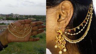HOW TO MAKE HANDMADE EAR JEWELLERY : HANDMADE JEWELLERY : SRIKRISH BEAUTY & FASHIONS