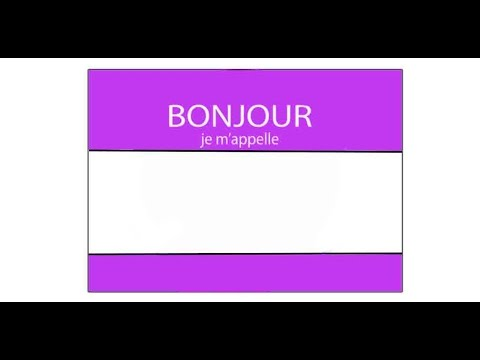 How to Say My Name Is In French - YouTube