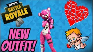 New Valentine's Pink Bear Skin Gameplay! - Fortnite Battle Royale Gameplay