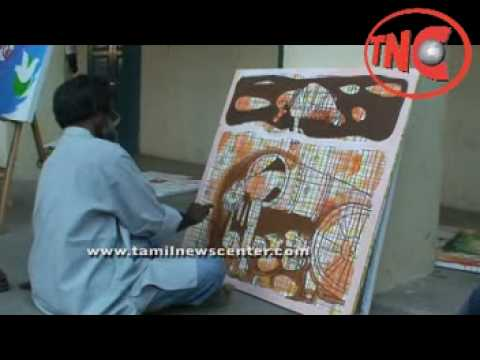 Chennai Artists draws for Eelam Tamils