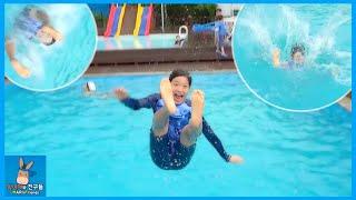 수영장 물 속으로 날아가다! 시원하게 다이빙 수영 게임 도전 놀이 ♡ 가평 펜션 한국 여행 물놀이 Korea Travel  Pool | 말이야와친구들 MariAndFriends