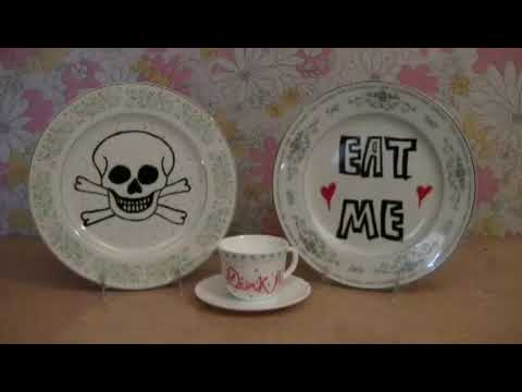 How to Make Painted Tiles Plates and Dinnerware with Ceramic Paint Pens - YouTube & How to Make Painted Tiles Plates and Dinnerware with Ceramic Paint ...