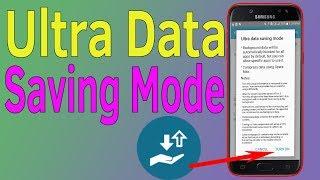 Ultra Data Saving | Ultra Data Saving mode Samsung J1 J2 J3 J5 J6 J7 - Helping Mind