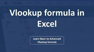 Excel Vlookup formula | Excel in Hindi