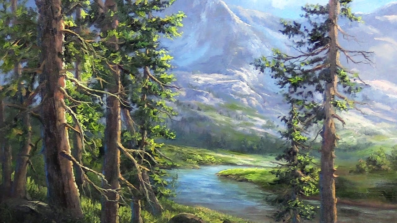 The Hidden Mountain | Landscape Painting - The Hidden Mountain Landscape Painting - YouTube