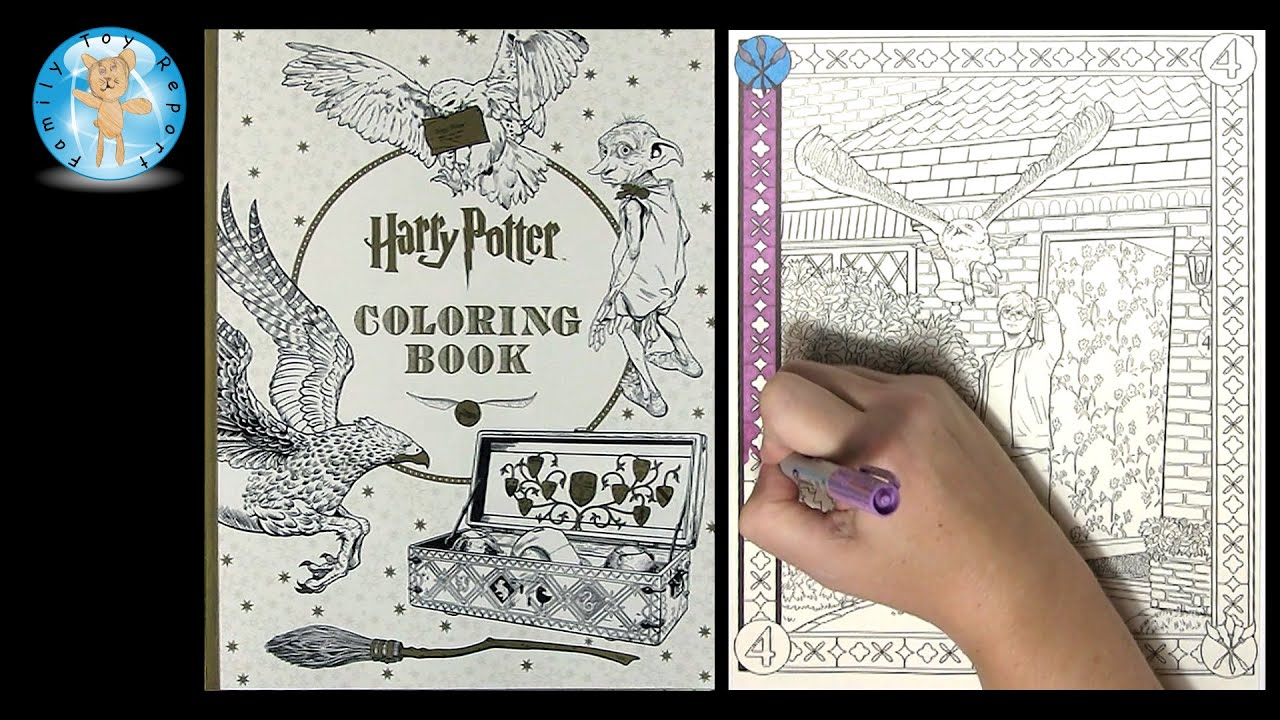 Harry Potter Coloring Book By Scholastic Owl Wizard Magic Speed Color Family Toy Report Youtube