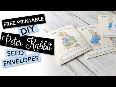 Free Printable Peter Rabbit Seed Envelopes | FREEBIE